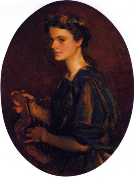 Girl With Lyre (Dorothea Gilder)