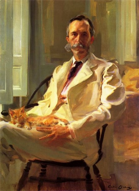 Henry Sturgis Drinker - Man With The Cat
