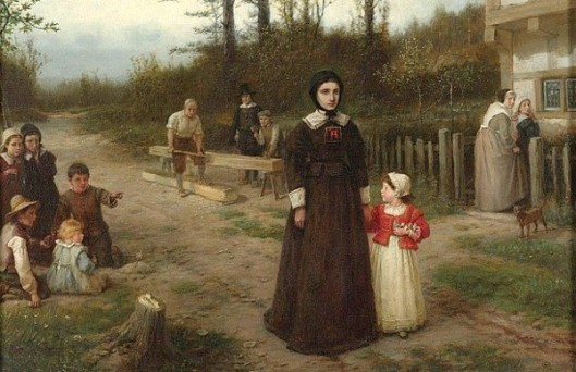 The Scarlet Letter - Hester Prynne And Pearl