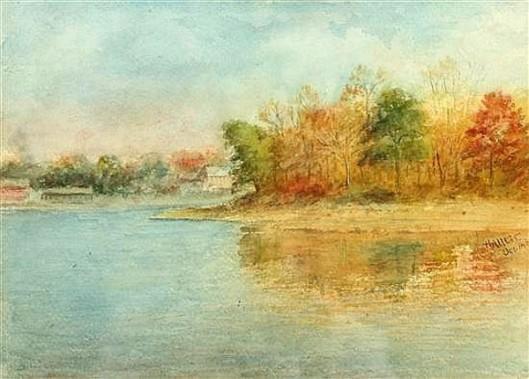 Lake Shore In Autumn