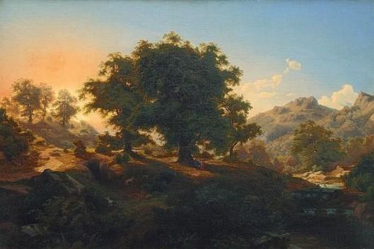 Mountain Landscape In Dusk