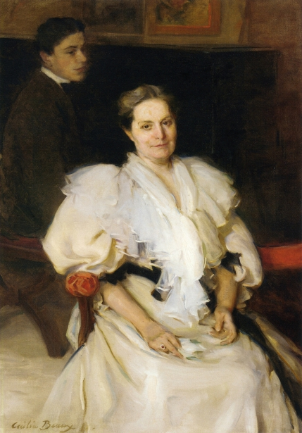 Mrs. Beauveau Borie And Her Son Adolphe - Mother And Son