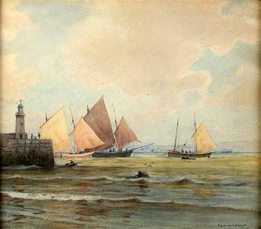 Sailboats At Sea Wall