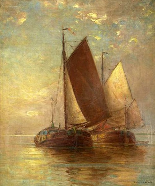 Sailing Vessels At Sea