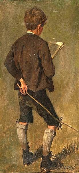 Shepherd Boy With Book