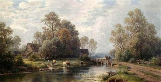 Summery Landscape At A Farmstead