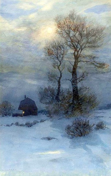 Winter Moonlit Scene