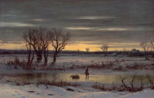 Winter Twilight Near Albany