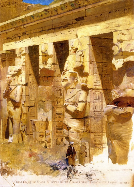 First Court Of Temple Of Ramses III, Medinet Aboo
