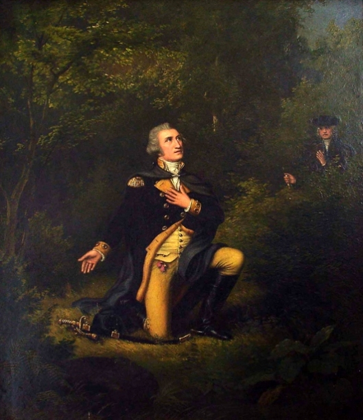 George Washington In Prayer At Valley Forge (with Lambert Sachs)