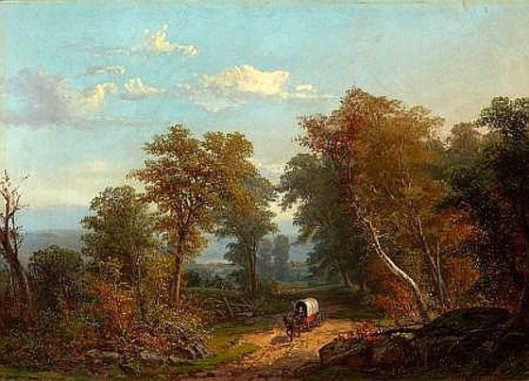 Landscape With Covered Wagon