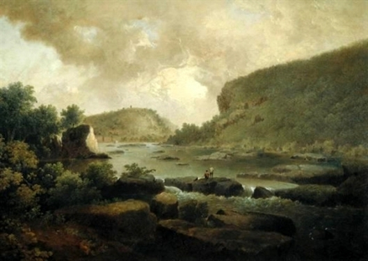 Mill With Figures By A River