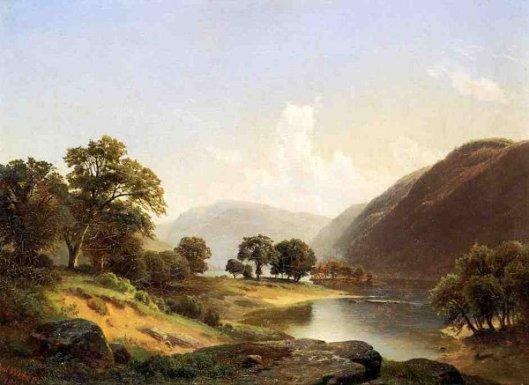 Mountain Landscape With River, Near Philadelphia