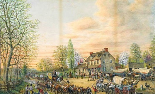 Moving West On The National Road Outside Washington DC In 1829
