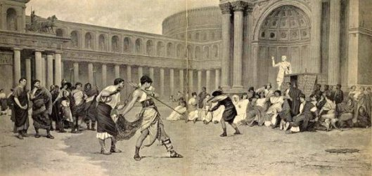 Representation Of Gladiator Fight Given By Women In Rome