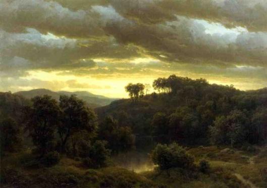 Sunset - Stormy Landscape