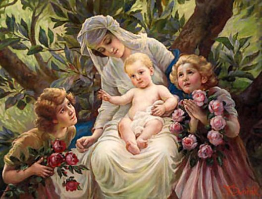 A Floral Tribute To A Mother And Child