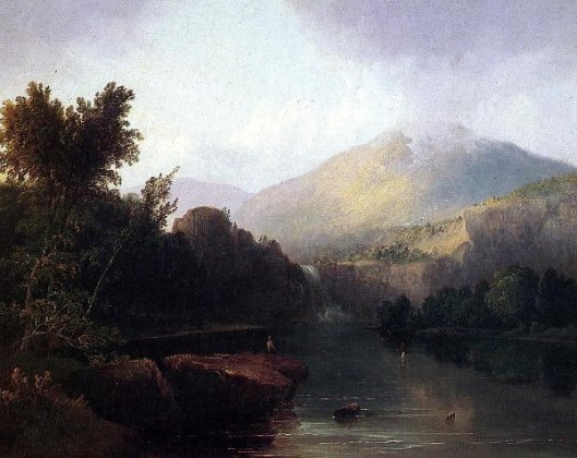 A Lake In The White Mountains