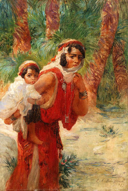 Algerian Mother And Child