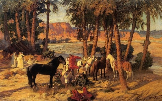 An Arab Encampment - A Rest In The Shade