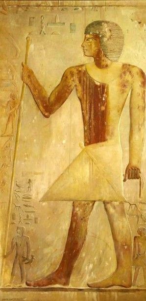 Ancient Egyptian With Staff