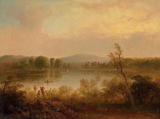 Anglers On A Lake