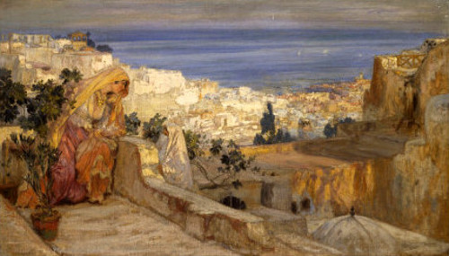 Arab Woman On A Rooftop, Algiers Beyond