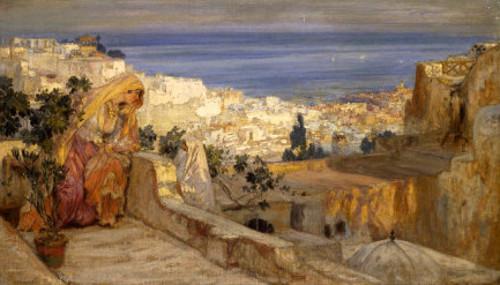 Arab Woman On A Rooftop, Algiers Beyond