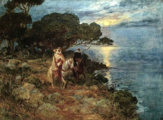 Arabian Horsemen By The Sea