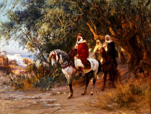 Arabs On Horseback - The Return