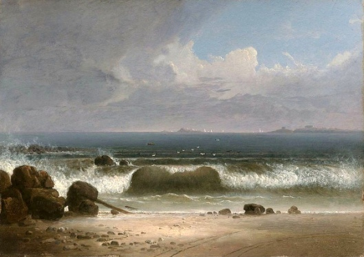Beach Scene With Rocks