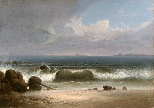 Beach Scene With Rocks