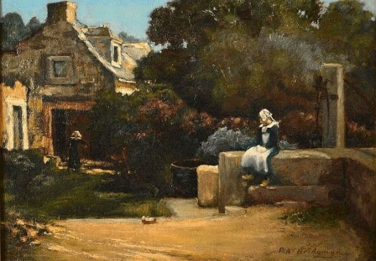 Breton Woman At The Well Near Huiles