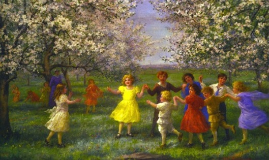 Children Playing In The Orchard
