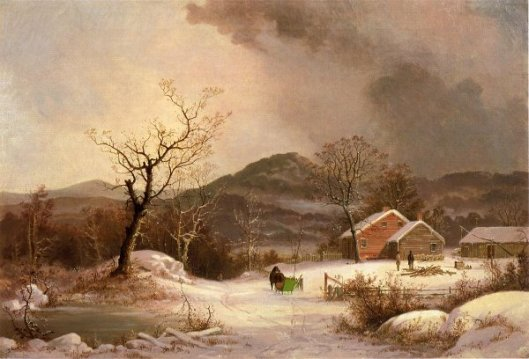 Farmstead And Sleigh In Winter