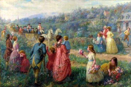 George Washington's Triumphal Procession To New York