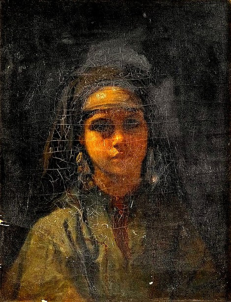 Girl In Orientalist Dress