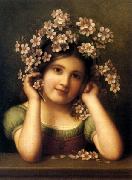 Girl With Dogwoods