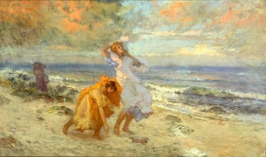 Greek Girls On The Seashore