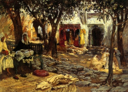 Idle Moments - An Arab Courtyard