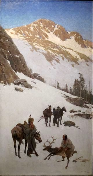 Indian Elk Hunting