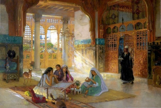 Interior Of An Arab Palace