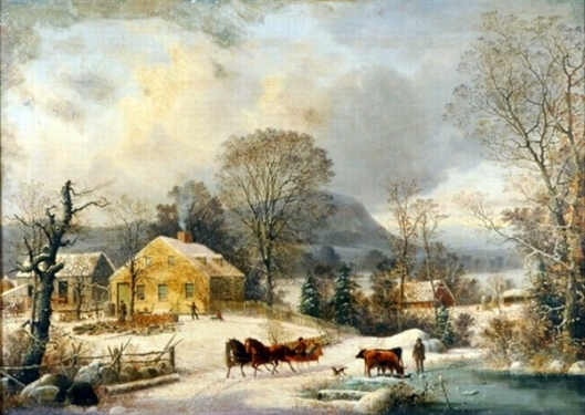 Ketcham Farm In Winter, New Haven