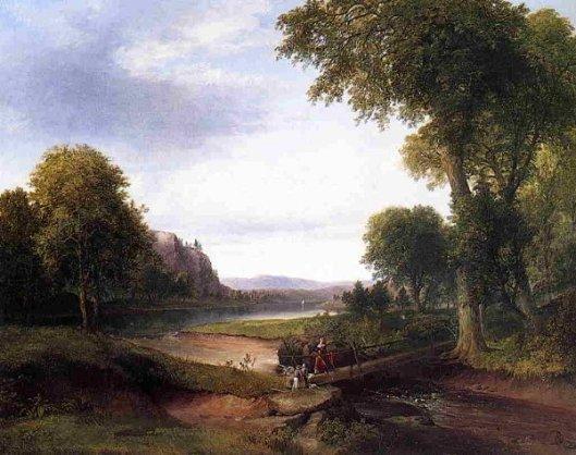 Landscape With Footbridge