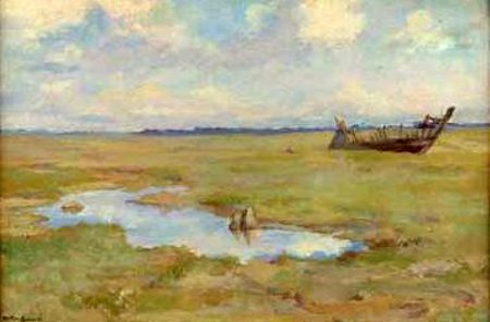 Normandy Marsh With Boat