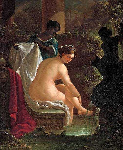 Preparing Her Bath