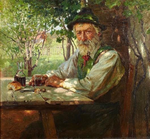 Resting In A Sunlit Garden