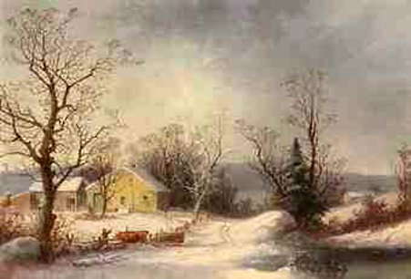Returning To The Farm - Yellow Farmhouse In Winter