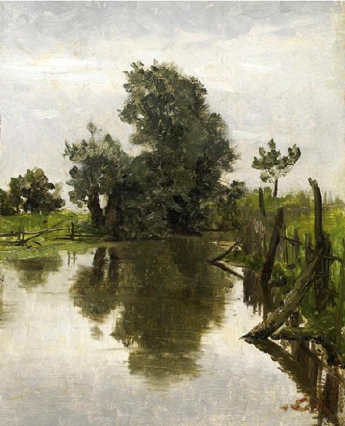 River In Summerly Landscape