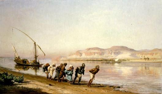 Hauling Scene On The Nile